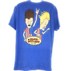 🌟  MTV Beavis & Butt-Head Graphic T-Shirt  SzXL